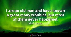mark twain on fear
